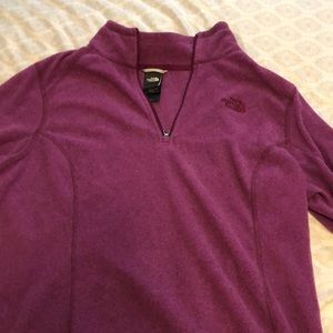 The North Face purple fleece sweater